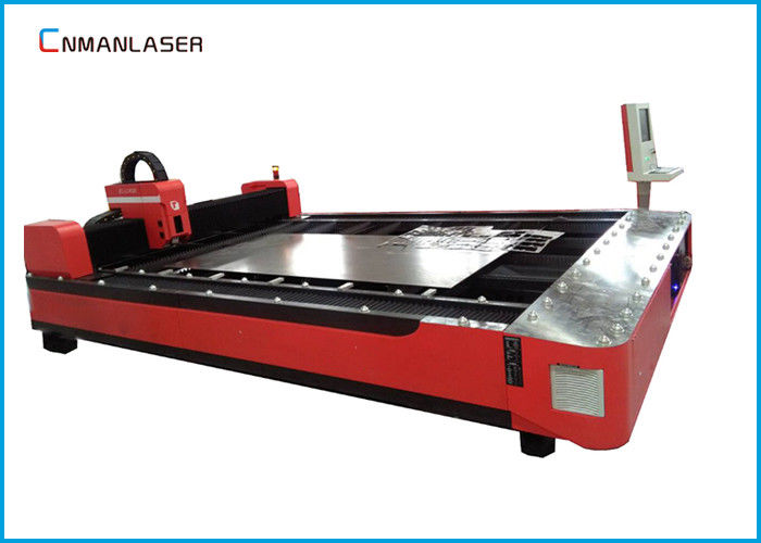 IPG Raycus Power Cnc Fiber Laser Cutting Machine For Nameplate 20mm Metal