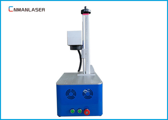 Air Cooling Desktop Small Fiber Laser Marking Machine For Advertising Lighting Lamps